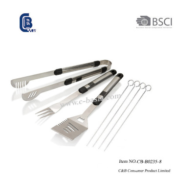 Ensemble d'outils de barbecue 8PCS